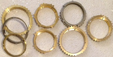 C60 TRANSMISSION SYNCHRO RINGS KIT ORIGINAL EQUIPMENT FITS '03+TOYOTA &  PONTIAC WITH 2 15